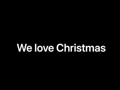 We love Christmas video