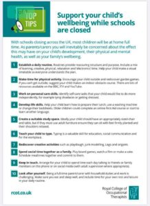 Top tips to support your child's wellbeing while schools are closed