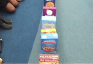 Playing cereal dominoes
