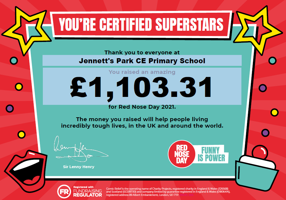 Amount Raised for Comic Relief 2021